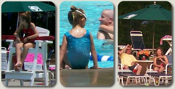 Our club members enjoy all the pool amenities including a full size pool, baby pool and snack bar